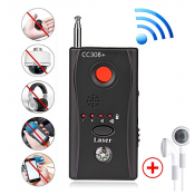 Bug Detector,RF Anti-Spy Wireless Detector,Hidden Camera Pinhole Laser Lens GSM Device Finder,Full-Range All-Round Portable Detector for Eavesdropping, Candid Video, GPS Tracker