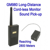 GM980 Long Distance Cordless Monitor Audio Bug Spy Gadgets with Ultra Range Wireless Transmission, Reaching 2800 Meters