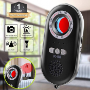 Anti-Spy Hidden Camera Detector Infrared Portable Safesound Personal Alarm 3-in-1 Functionality Defense Emergency Alert with Mini LED Flashlight for Home Hotel Travel Suitcase Security Box K98