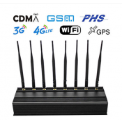 Power Adjustable 8 Bands Cell Phone Signal WiFi GPS Jammer